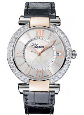 Chopard,Chopard - Imperiale - Automatic 40mm - Stainless Steel and Rose Gold - Diamond Bezel - Watch Brands Direct