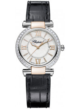 Chopard,Chopard - Imperiale - Quartz 28mm - Stainless Steel and Rose Gold - Diamond Bezel - Watch Brands Direct