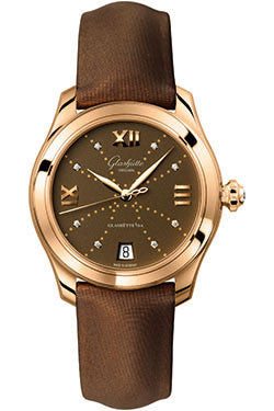 Glashutte Original,Glashutte Original - Ladies Collection - Serenade - Rose Gold - Brown - Watch Brands Direct
