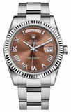 Rolex - Day-Date President White Gold - Fluted Bezel - Watch Brands Direct  - 3