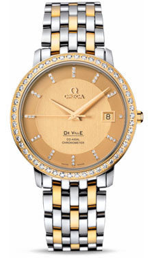 Omega,Omega - De Ville Prestige Co-Axial 36.5 mm - Steel And Yellow Gold - Watch Brands Direct