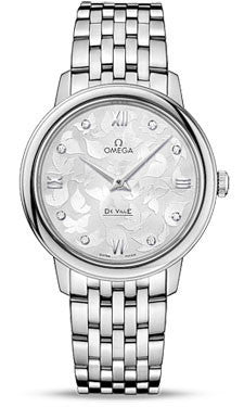 Omega,Omega - De Ville Prestige Quartz 32.7 mm - Stainless Steel - Watch Brands Direct