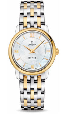 Omega,Omega - De Ville Prestige Quartz 27.4 mm - Steel And Yellow Gold - Watch Brands Direct