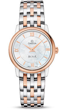 Omega,Omega - De Ville Prestige Quartz 27.4 mm - Steel And Red Gold - Watch Brands Direct