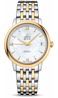 Omega,Omega - De Ville Prestige Co-Axial 32.7 mm - Steel And Yellow Gold - Watch Brands Direct