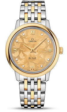 Omega,Omega - De Ville Prestige Quartz 32.7 mm - Steel And Yellow Gold - Watch Brands Direct