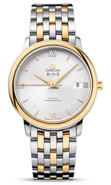 Omega,Omega - De Ville Prestige Co-Axial 36.8 mm - Steel And Yellow Gold - Watch Brands Direct
