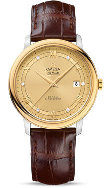 Omega - De Ville Prestige Co-Axial 39.5 mm - Steel And Yellow Gold - Watch Brands Direct