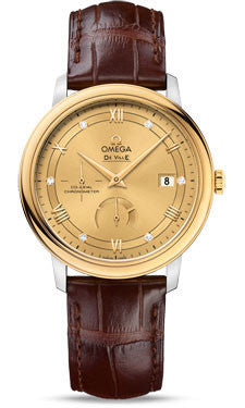 Omega,Omega - De Ville Prestige Co-Axial Power Reserve 39.5 mm - Steel And Yellow Gold - Watch Brands Direct