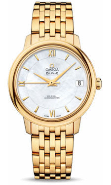 Omega,Omega - De Ville Prestige Co-Axial 32.7 mm - Yellow Gold - Watch Brands Direct