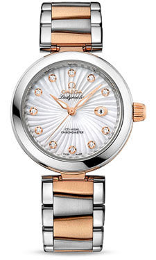 Omega,Omega - De Ville Ladymatic Co-Axial 34 mm - Steel and Red Gold - Watch Brands Direct