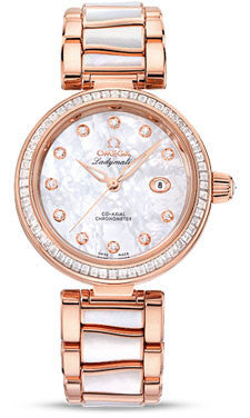 Omega,Omega - De Ville Ladymatic Co-Axial 34 mm - Sedna Gold - Watch Brands Direct