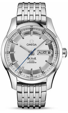Omega,Omega - De Ville Hour Vision Co-Axial Annual Calendar 41 mm - Stainless Steel - Watch Brands Direct