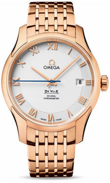 Omega,Omega - De Ville Co-Axial 41 mm - Red Gold - Watch Brands Direct