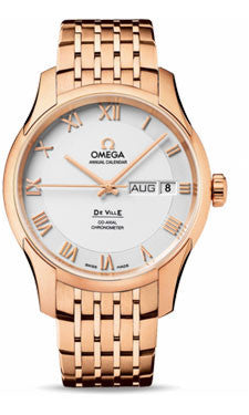 Omega,Omega - De Ville Co-Axial Annual Calendar 41 mm - Red Gold - Watch Brands Direct