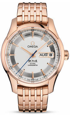 Omega,Omega - De Ville Hour Vision Co-Axial Annual Calendar 41 mm - Red Gold - Watch Brands Direct