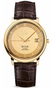 Omega,Omega - De Ville Prestige Co-Axial 36.5 mm - Yellow Gold - Watch Brands Direct