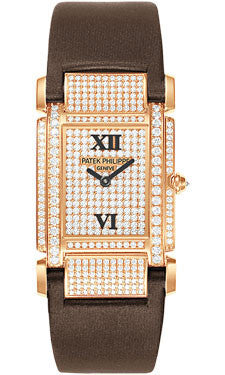 Patek Philippe,Patek Philippe - Twenty-4 Medium - Rose Gold - Diamond Case - Watch Brands Direct