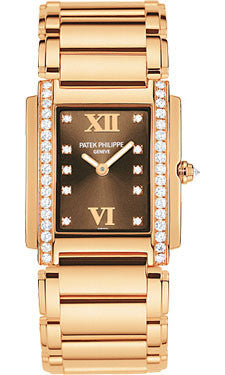 Patek Philippe,Patek Philippe - Twenty-4 Medium - Rose Gold - Bracelet - Watch Brands Direct