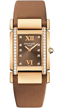 Patek Philippe,Patek Philippe - Twenty-4 Medium - Rose Gold - Satin Strap - Watch Brands Direct