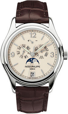 Patek Philippe,Patek Philippe - Complications Annual Calendar - White Gold - Leather - 39mm - Watch Brands Direct