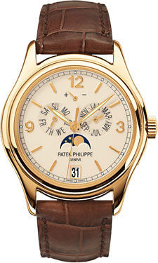Patek Philippe,Patek Philippe - Complications Annual Calendar - Yellow Gold - Leather - 39mm - Watch Brands Direct