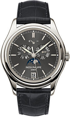 Patek Philippe,Patek Philippe - Complications Annual Calendar - Platinum - Leather - 39mm - Watch Brands Direct