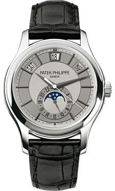 Patek Philippe,Patek Philippe - Complications Annual Calendar - White Gold - Leather - 40mm - Watch Brands Direct