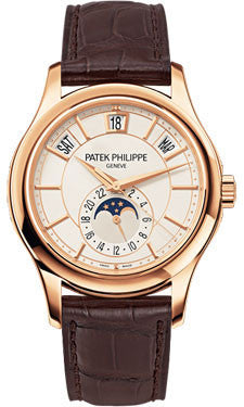 Patek Philippe,Patek Philippe - Complications Annual Calendar - Rose Gold - Leather - 40mm - Watch Brands Direct