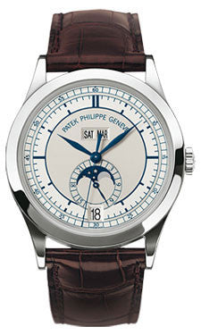 Patek Philippe,Patek Philippe - Complications Annual Calendar - White Gold - Leather - 38mm - Watch Brands Direct
