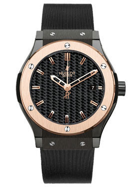 Hublot,Hublot - Classic Fusion 38mm Ceramic And Red Gold - Watch Brands Direct