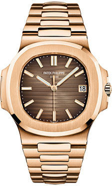 Patek Philippe,Patek Philippe - Nautilus Mens - Rose Gold - Bracelet - Watch Brands Direct