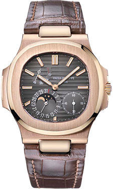 Patek Philippe,Patek Philippe - Nautilus Mens - Rose Gold - Leather - Watch Brands Direct