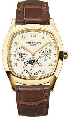 Patek Philippe,Patek Philippe - Grand Complications Perpetual Calendar Moonphase - Cushion Shaped - Yellow Gold - Watch Brands Direct