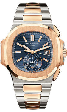 Patek Philippe,Patek Philippe - Nautilus Mens - Stainless Steel and Rose Gold - Watch Brands Direct