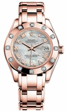 Rolex - Datejust Pearlmaster Lady Everose Gold - 12 Diamond Bezel - Watch Brands Direct  - 4