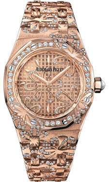 Audemars Piguet,Audemars Piguet - Royal Oak Lady Floral - Watch Brands Direct