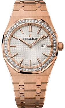 Audemars Piguet,Audemars Piguet - Royal Oak Lady Quartz 33mm - Pink Gold - Watch Brands Direct