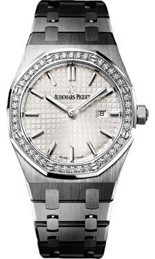 Audemars Piguet,Audemars Piguet - Royal Oak Lady Quartz 33mm - Stainless Steel - Watch Brands Direct
