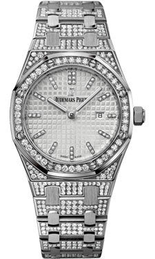 Audemars Piguet,Audemars Piguet - Royal Oak Lady Quartz 33mm - White Gold - Watch Brands Direct