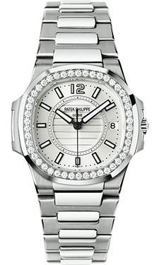 Patek Philippe,Patek Philippe - Nautilus Ladies - White Gold - Watch Brands Direct