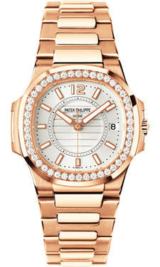 Patek Philippe,Patek Philippe - Nautilus Ladies Rose Gold - Diamond Bezel - Watch Brands Direct