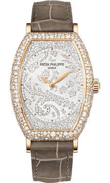 Patek Philippe,Patek Philippe - Gondolo Ladies - Rose Gold - 29.6 mm×38.9 mm - Watch Brands Direct