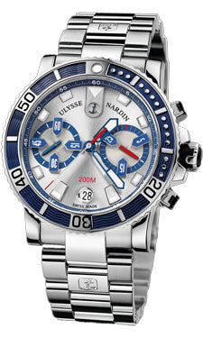 Ulysse Nardin,Ulysse Nardin - Marine Diver Chronograph 42.7mm - Stainless Steel - Watch Brands Direct