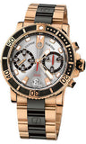 Ulysse Nardin,Ulysse Nardin - Marine Diver Chronograph 42.7mm - Rose Gold - Watch Brands Direct