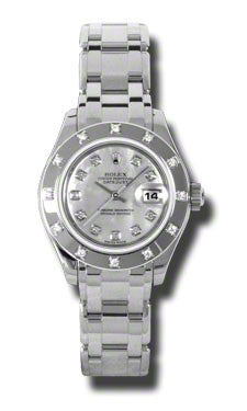 Rolex - Datejust Pearlmaster Lady White Gold - Diamond Bezel - Watch Brands Direct  - 1