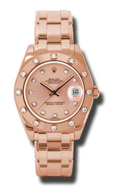 Rolex - Datejust Pearlmaster 34 Everose Gold - Watch Brands Direct  - 1