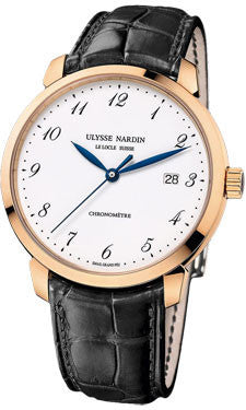Ulysse Nardin,Ulysse Nardin - Classico Automatic - Rose Gold - Leather Strap - Watch Brands Direct