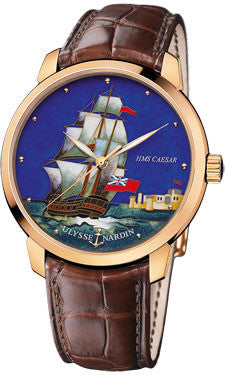 Ulysse Nardin,Ulysse Nardin - Classico Enamel - Rose Gold - Watch Brands Direct