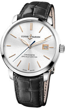 Ulysse Nardin,Ulysse Nardin - Classico Automatic - Stainless Steel - Leather Strap - Watch Brands Direct